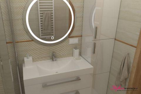 Łazienka z płytkami trawertyn